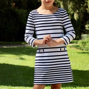 Lilly Pulitzer Navy and White Striped A-Line Dress